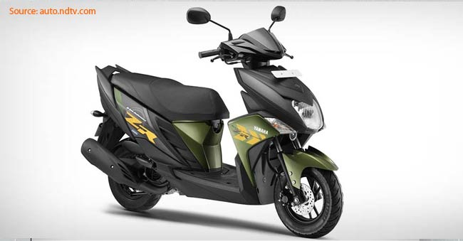 yamaha launches cygnus ray zr scooter  rs