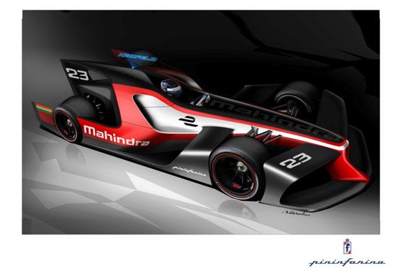 Mahindra Racing & Pininfarina release concept formula E designs.