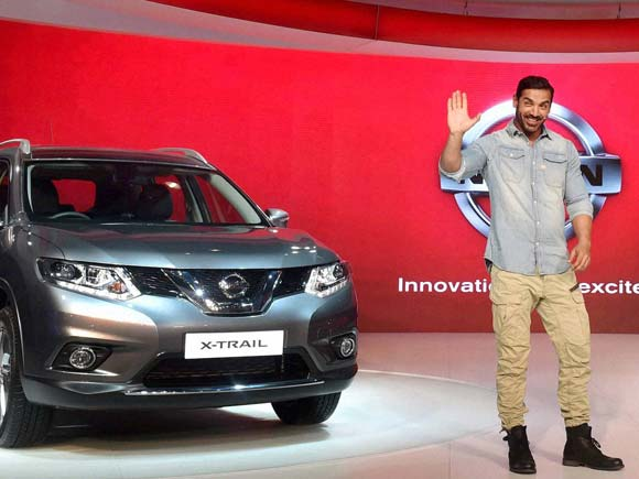 Nissan India ambassador John Abraham at its gallery at Auto Expo 2016