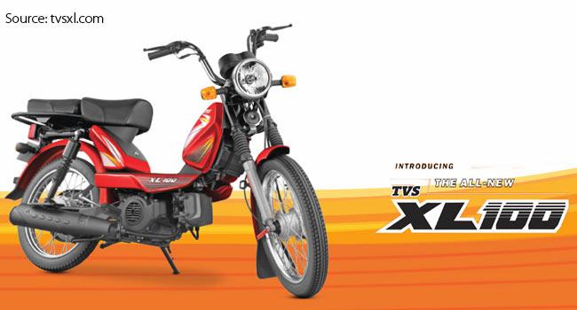 Tvs Motors New Four Stroke Xl 100 Launched In Karnataka