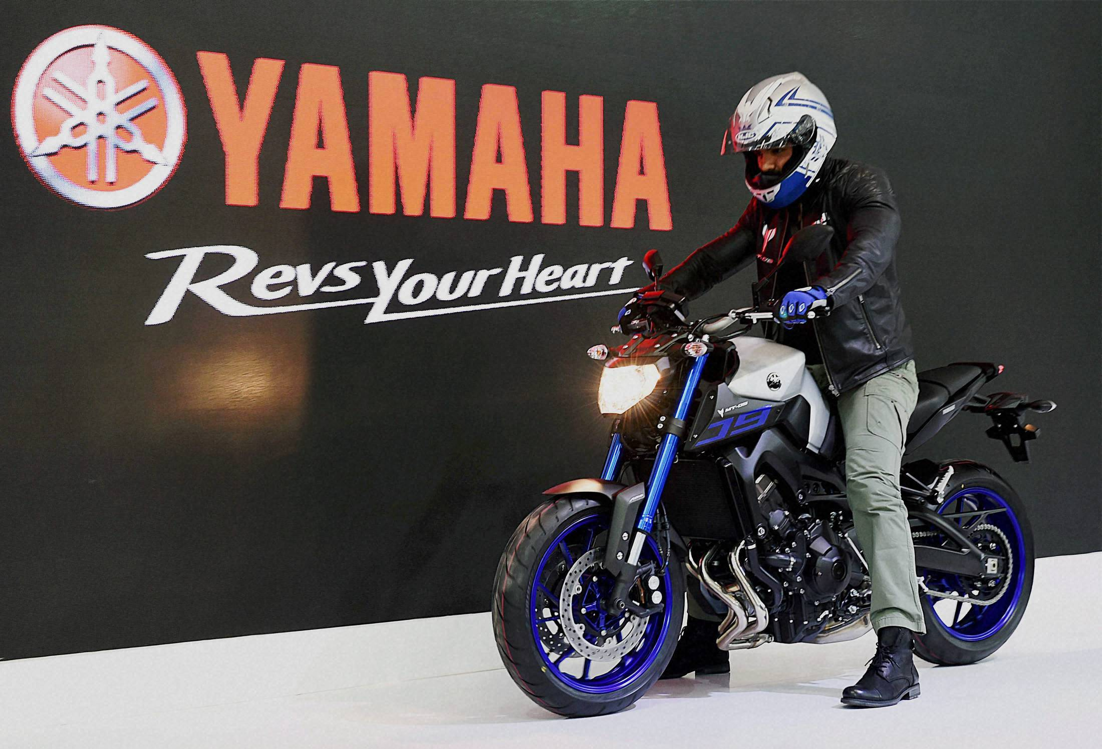 John Abraham at the launch of Yamaha motorbike at Auto Expo 2016