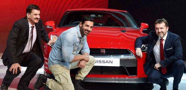 Nissan India ambassador John Abraham at Auto Expo 2016