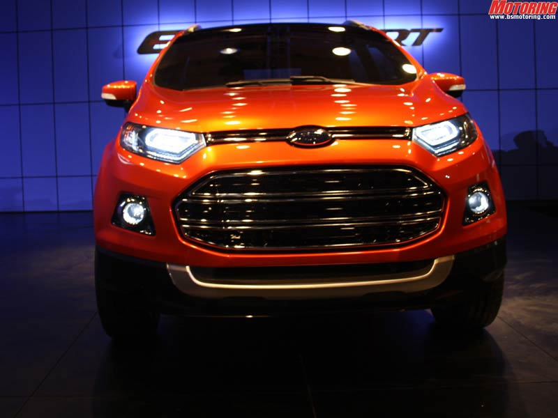 The Ford EcoSport boasts the new kinetic design language of the company that is refined and cleaned up