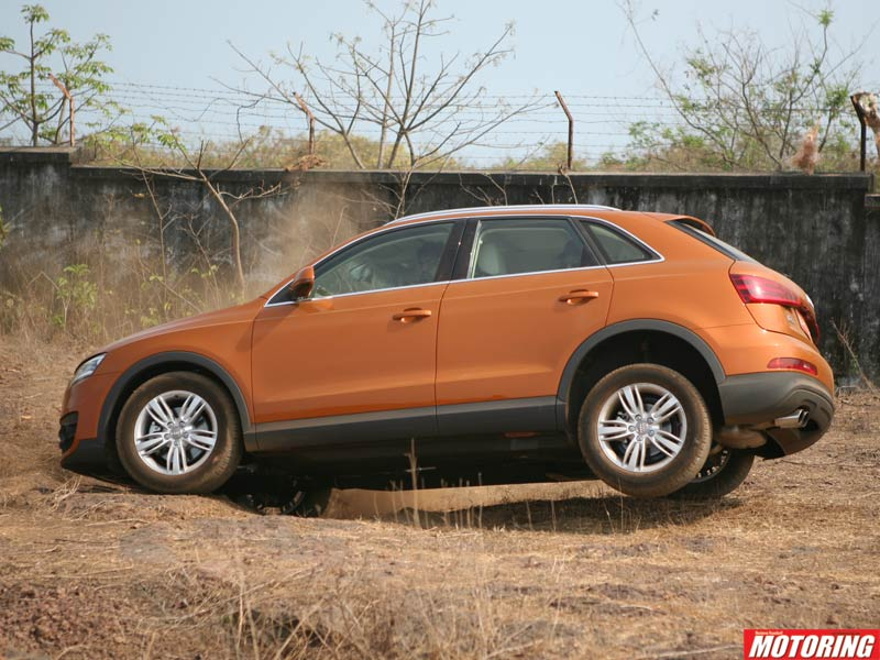 Surprisingly though, that car-like handling didn�t mean that it was found wanting off the road. On a course set up for us to test the Q3�s off-road abilities, the car did very well, tackling boulders, ditches, mounds of dirt and crawling over rocks without a hitch.