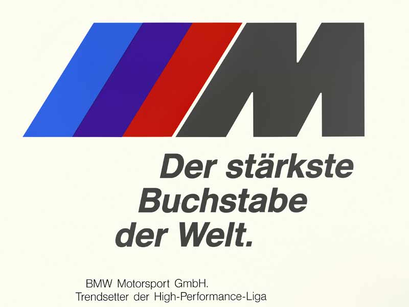 Let's start with the basics here. The tri-colour M logo basically stands for the partnership BMW had with the oil company, Texaco. The red stood for Texaco 