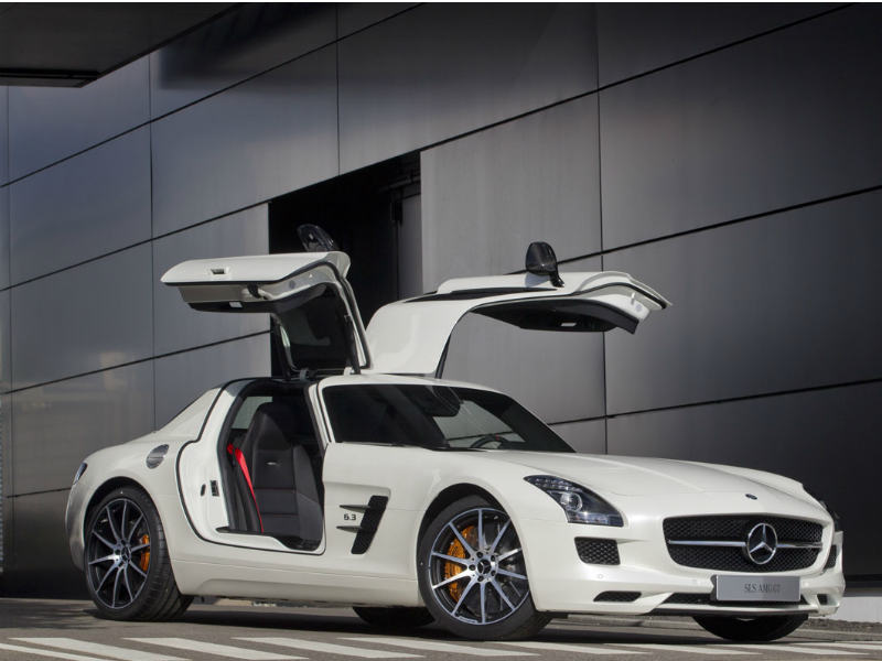 As if the gulling doors and long bonnet weren�t enough, Mercedes has gone ahead and announced, very recently, an AMG version of its SLS. The GT takes 3.6s to hit a tonne as compared to the 3.7s taken by the coupe. Power is up by 20hp too. That�s about all I can write, my jaw dropped a few seconds ago and I�m drooling on to the keyboard