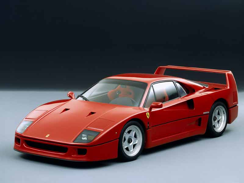 Built to celebrate Ferrari's 40th anniversary, the F40 was a landmark car even by Ferrari's own standards. Built mostly using composites, the car was super light, 1100kg's for a car powered by a twin turbocharged V8 producing 470bhp. The F40 was nimble, agile and extremely quick. A flurry of orders meant over a thousand cars were made during it's production run.