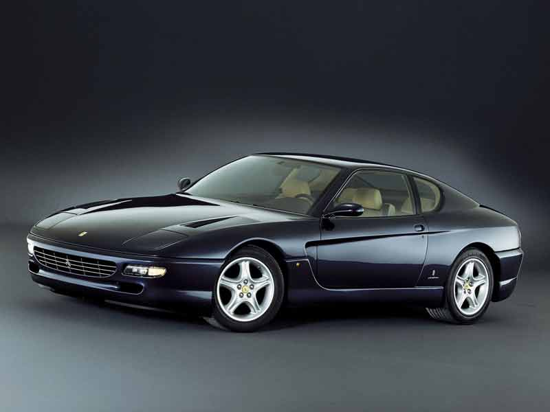 The 456 GT was named so because each cylinder of the 5.5L V12 displaced 456cc. This was the firs time this naming scheme was employed by Ferrari. It was also the last time that pop up headlamps were offered on a Ferrari. Although it was conventionally, a 2 door, 4 seat coupe, a 4 door sedan and estate versions were also produced in limited numbers