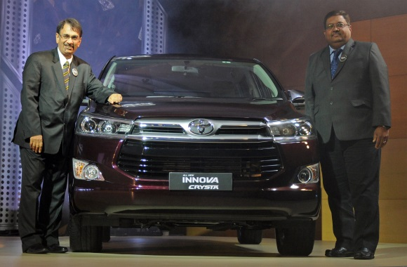 Toyota launches innova crysta in mumbai