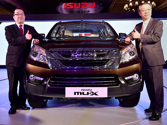 Isuzu mu x suv launch event
