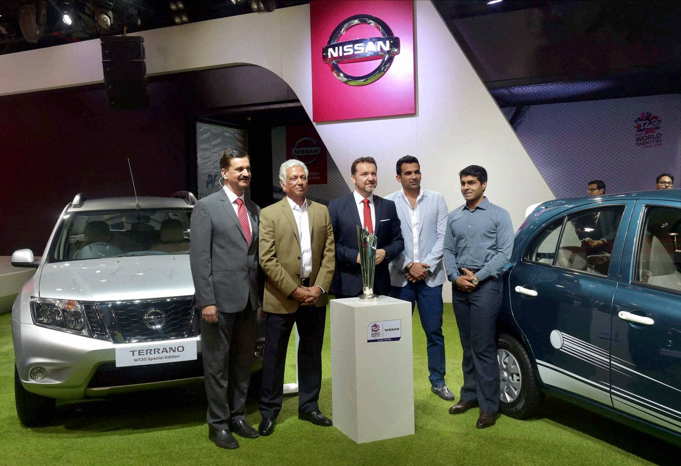 Auto Expo 2016 : World T20 Trophy at Nissan stall