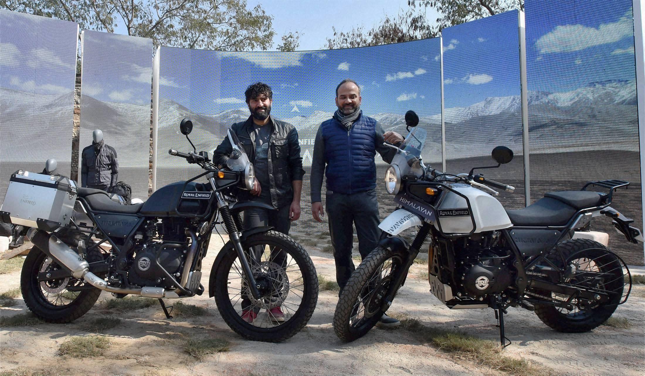 Moto expo 2016 royal enfield at the launch of himalayan