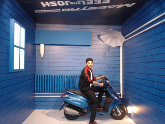 Hero bikes at auto expo 2016 duet e