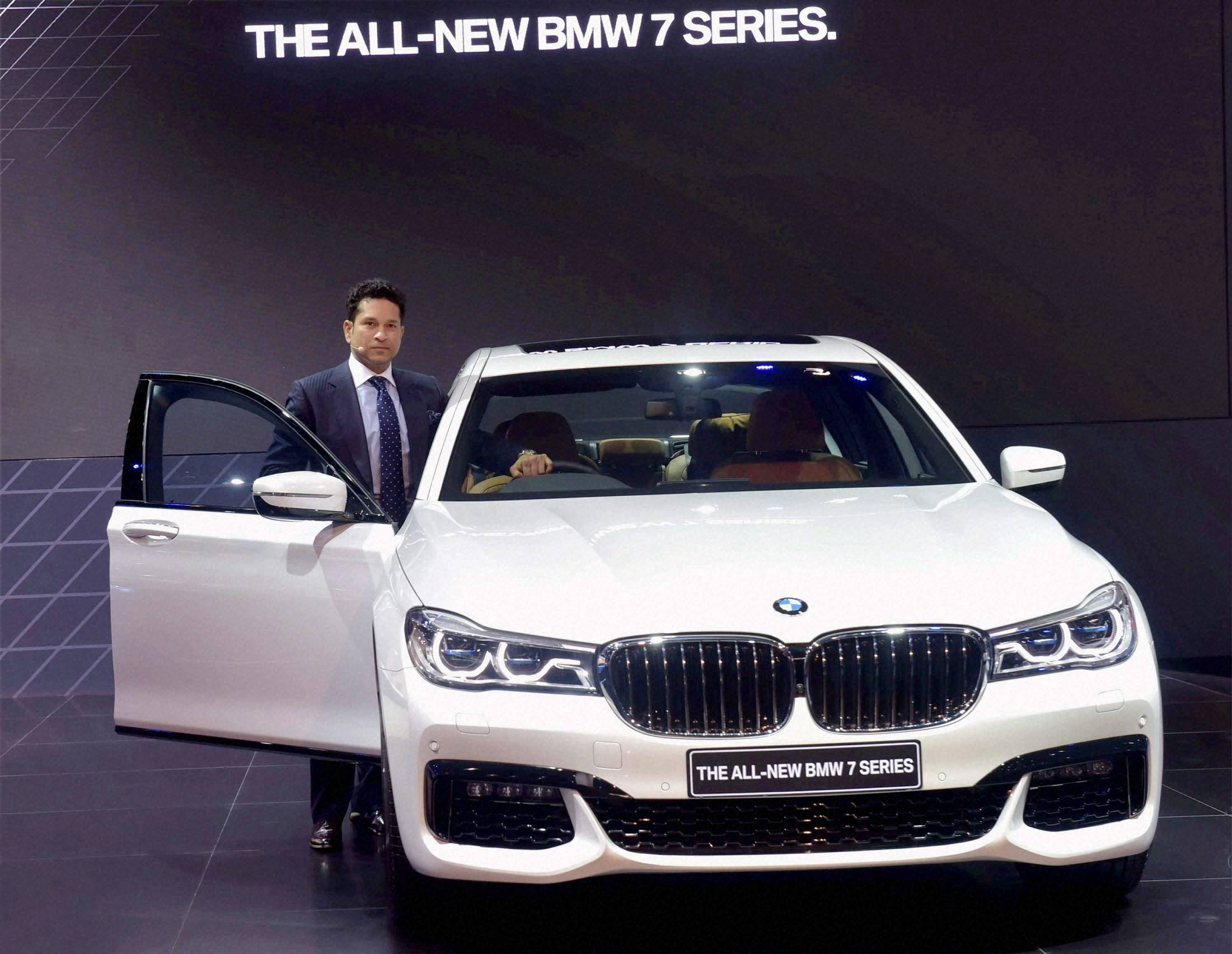 Auto Expo 2016 : Sachin Tendulkar at the launch of BMW 7 Series