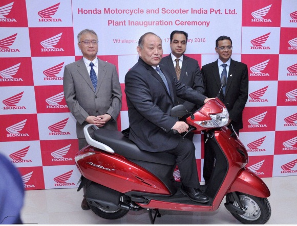 Honda inaugurates two wheeler plant in india
