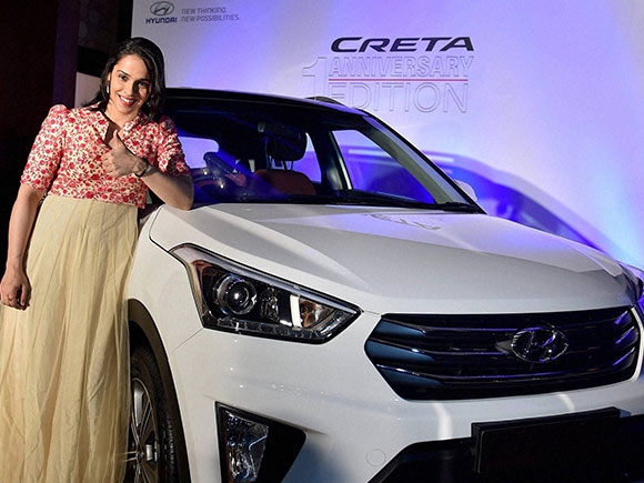 Saina Nehwal honoured by Hyundai Motor India Limited
