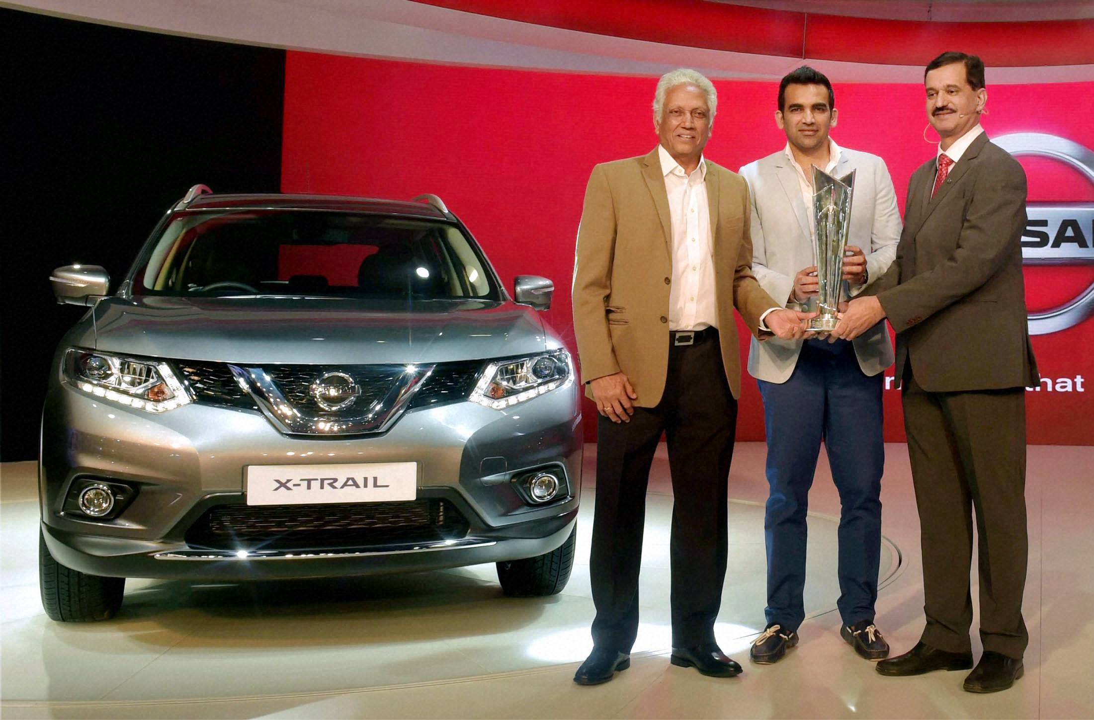 Auto expo 2016 world t20 trophy at nissan stall