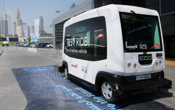 Driverless vehicles test run in Dubai