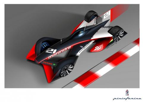 Mahindra's new future Formula E racing car