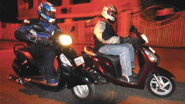 Honda Aviator Vs Suzuki Access