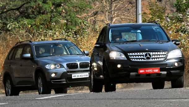 Bmw x5 versus ml 320