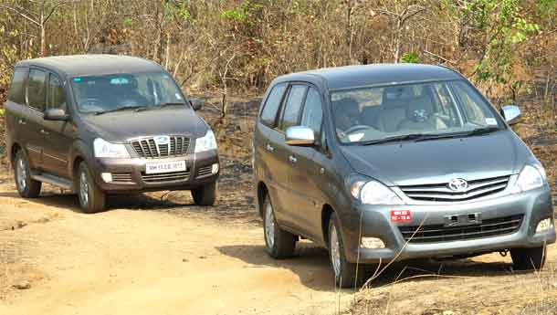 Mahindra Xylo vs Toyota Innova : Compare Prices, Reviews & Features.