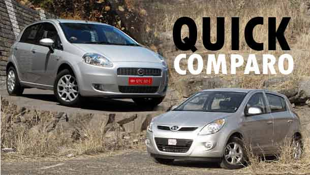 Hyundai i20 1.4 CRDi vs Fiat Punto Multijet : Compare Prices, Reviews & Features