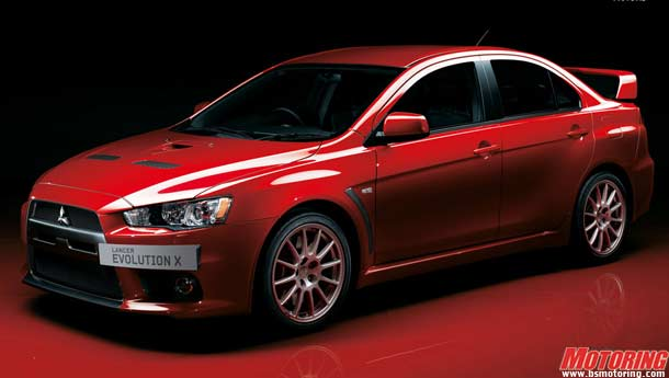 Mitsubishi Evo X (ten) prices for India!