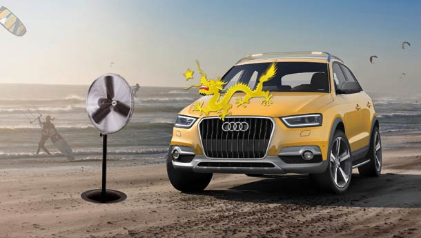 China groove - Audi Q3 Jinlong Yufeng Edition