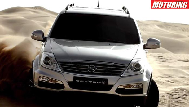 Updated SsangYong Rexton shown at the Busan Auto Show