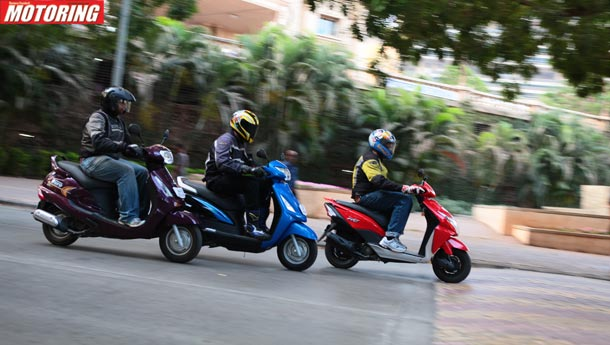 Mahindra Duro vs Honda Dio vs Suzuki Swish - New world order