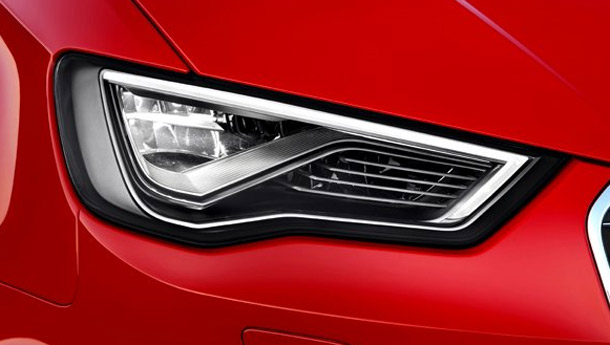 Audi to introduce headlights that see around corners and illuminate more space without blinding oncoming motorists.